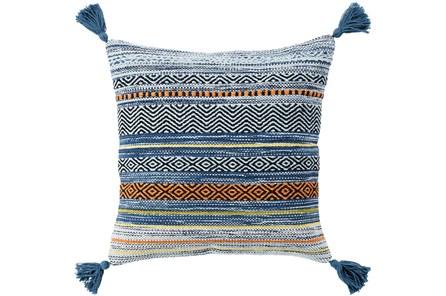 Accent Pillow-Mutlicolor Stripe Tassel 22X22 - Main