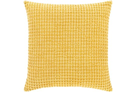 Accent Pillow-Bright Yellow Waffle Print 20X20 - Main