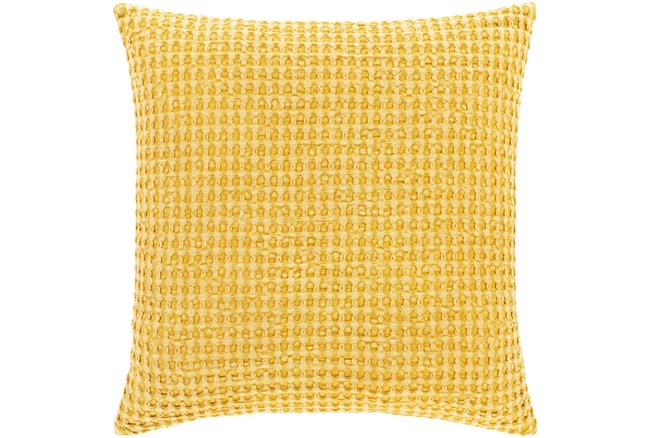 Accent Pillow-Bright Yellow Waffle Print 20X20 - 360