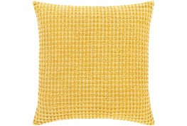 Accent Pillow-Bright Yellow Waffle Print 22X22