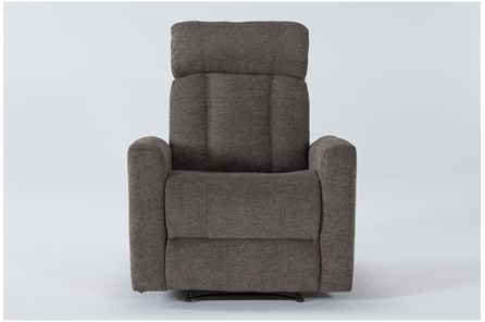 Halo II Grey Power Recliner With Power Headrest - Main