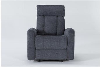 Halo II Blue Power Recliner With Power Headrest