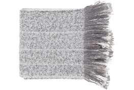 Accent Throw-Ombre Charcoal Stripe