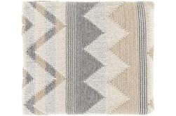 Accent Throw-Khaki Chevron Stripe