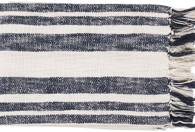 Accent Throw-Charcoal White Stripe - 360
