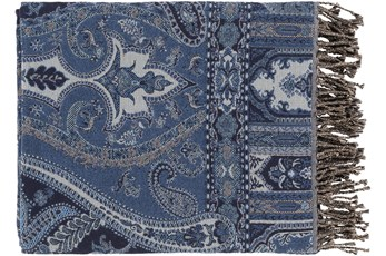 Accent Throw-Paisley Navy Blue