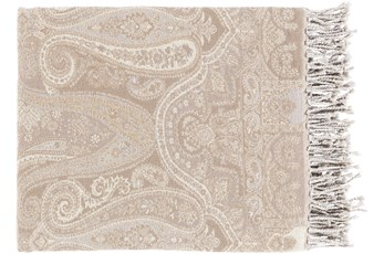 Accent Throw-Paisley Light Grey