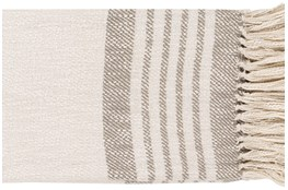 Accent Throw-Taupe Cream Stripe