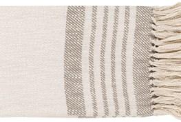 Accent Throw-Taupe Cream Stripe