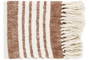 Accent Throw-Burnt Orange Stripe