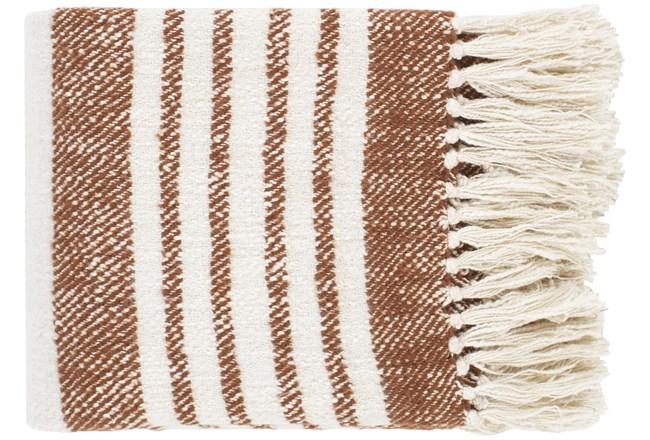 Accent Throw-Burnt Orange Stripe - 360