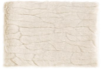 Accent Throw-Ivory Faux Fur