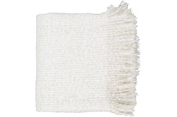 Accent Throw-White Fringe