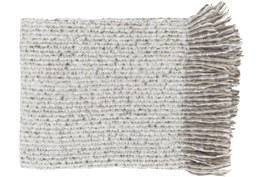 Accent Throw-Taupe Fringe