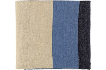 Accent Throw-Blue Beige Stripe