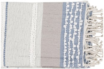 Accent Throw- Sea Foam Textured Stripe