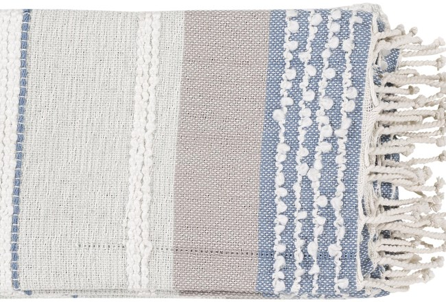 Accent Throw- Sea Foam Textured Stripe - 360