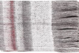 Accent Throw-Grey Red Plaid Fringe