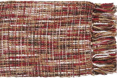 Accent Throw-Multicolor Red Fringe