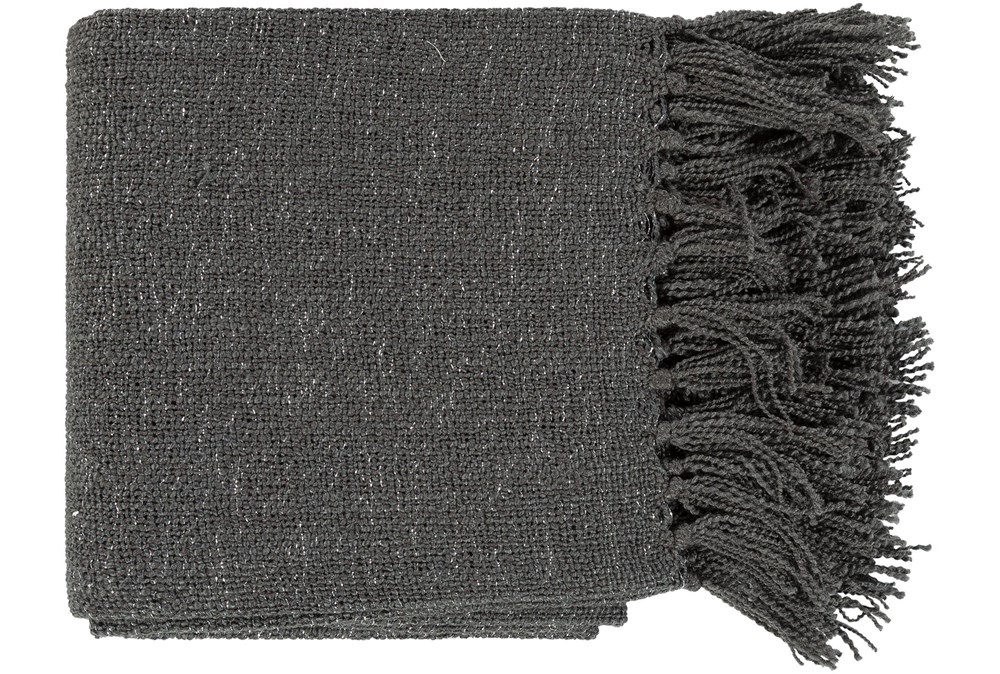Accent Throw-Charcoal Metallic Silver