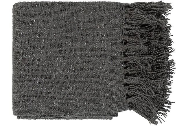 Accent Throw-Charcoal Metallic Silver - 360