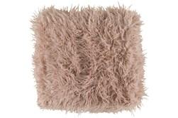 Accent Throw-Blush Faux Fur