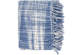 Accent Throw-Blue White Plaid