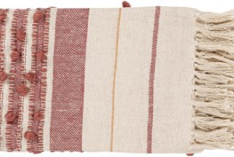 Accent Throw-Rose Stripe