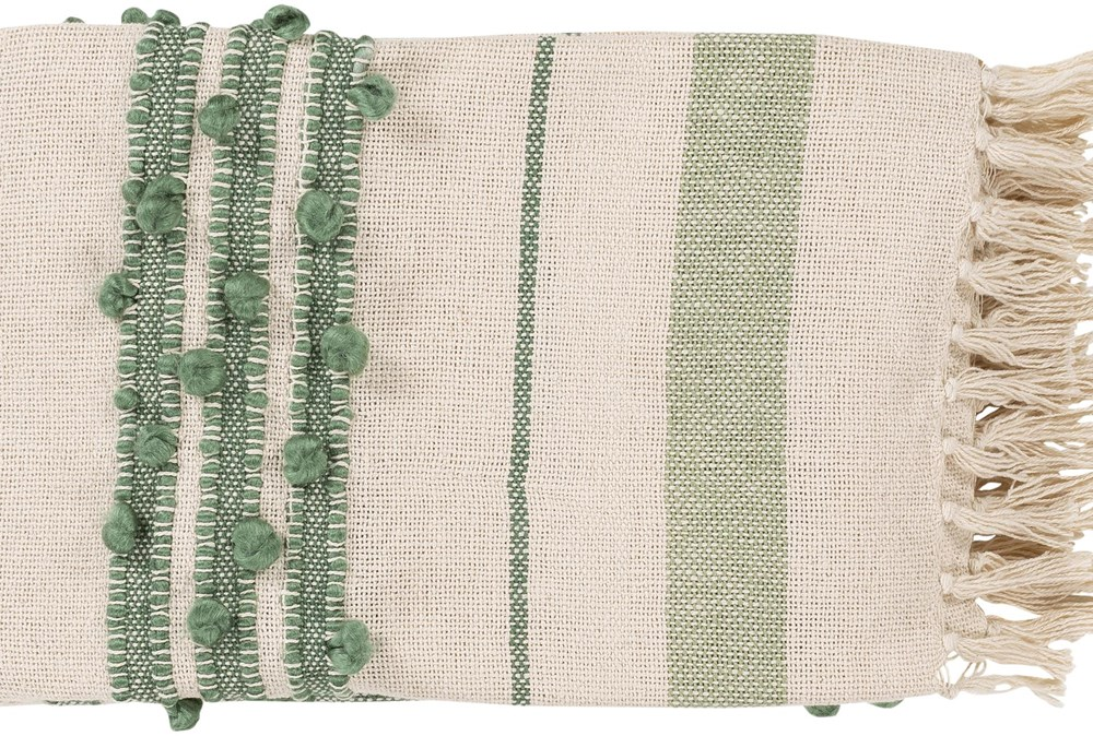Accent Throw-Mint Fringe