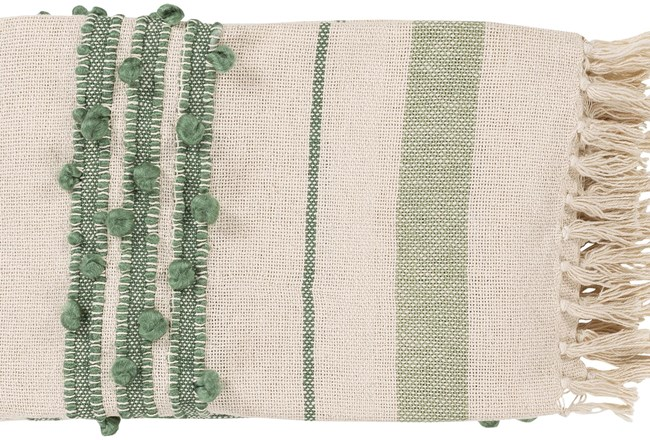 Accent Throw-Mint Fringe - 360
