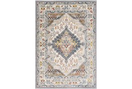 """5'3"""" Round Rug-Traditional Multicolor"""