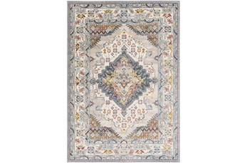 63 Inch Round Rug-Traditional Multicolor