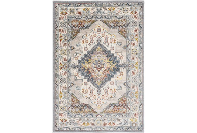 """7'9"""" Round Rug-Traditional Multicolor - 360"""