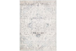 """5'3"""" Round Rug-Traditional Pale Multicolor"""