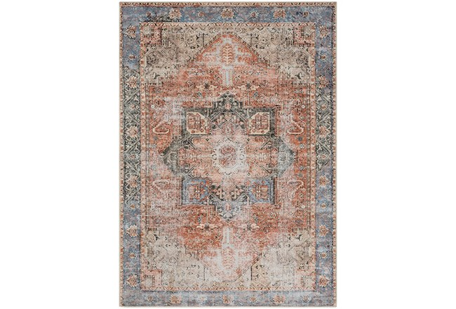 63X87 Rug-Traditional Distressed Multicolor - 360