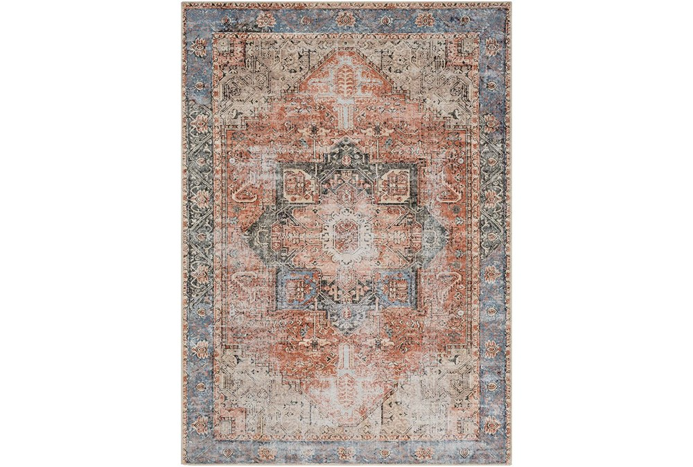 """7'8""""x10'2"""" Rug-Traditional Distressed Multicolor"""