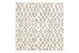 """7'8""""x7'8"""" Square Rug-Global Shag Charcoal/Beige"""