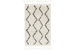 "7'8""x10'2"" Rug-Global Shag Charcoal/Beige"