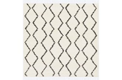 "7'8""x7'8"" Square Rug-Global Shag Charcoal/Beige"