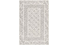 """2'x2'9"""" Rug-Global Low/High Grey And Beige"""