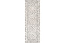 "2'6""x7'3"" Rug-Global Low/High Grey And Beige"