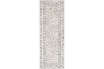 31X87 Rug-Global Low/High Grey And Beige