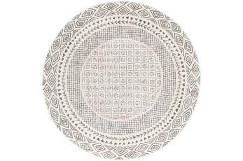 63 Inch Round Rug-Global Low/High Grey And Beige