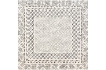 63X63 Square Rug-Global Low/High Grey And Beige