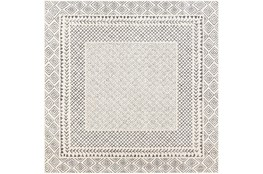 79X79 Square Rug-Global Low/High Grey And Beige