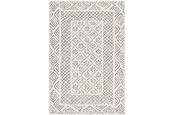 94X122 Rug-Global Low/High Grey And Beige
