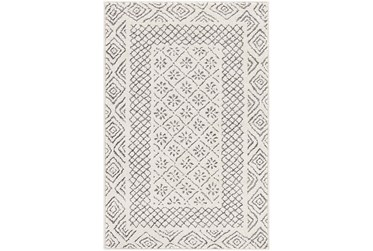 """7'8""""x10'2"""" Rug-Global Low/High Grey And Beige"""