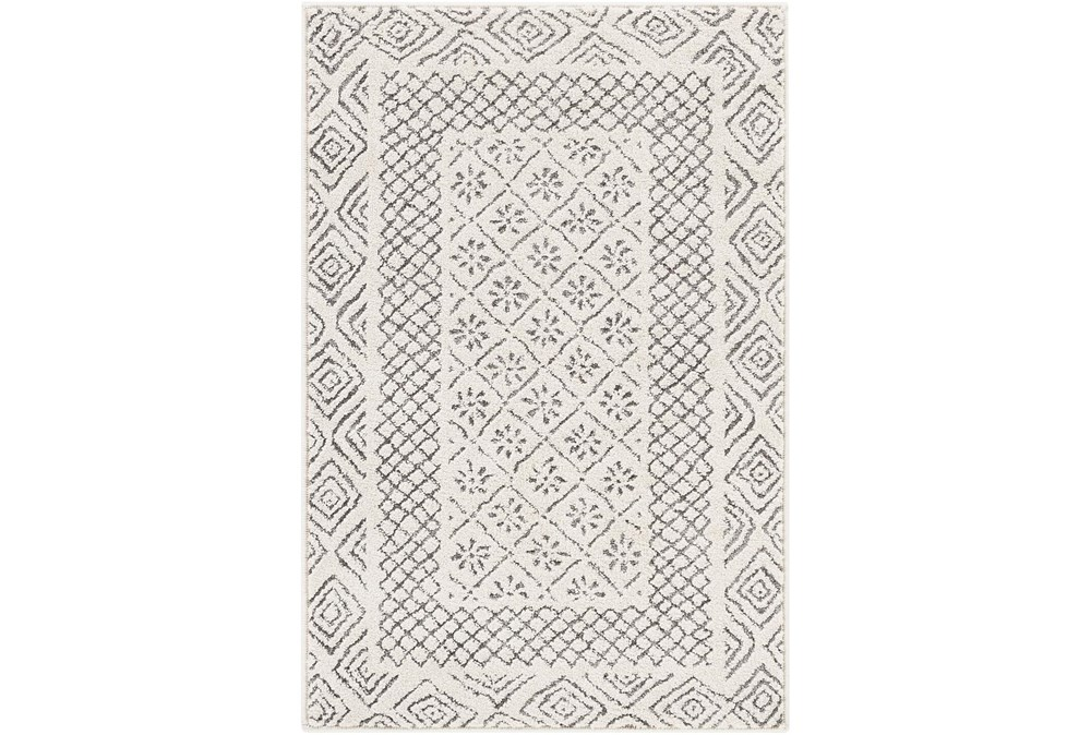 108X148 Rug-Global Low/High Grey And Beige