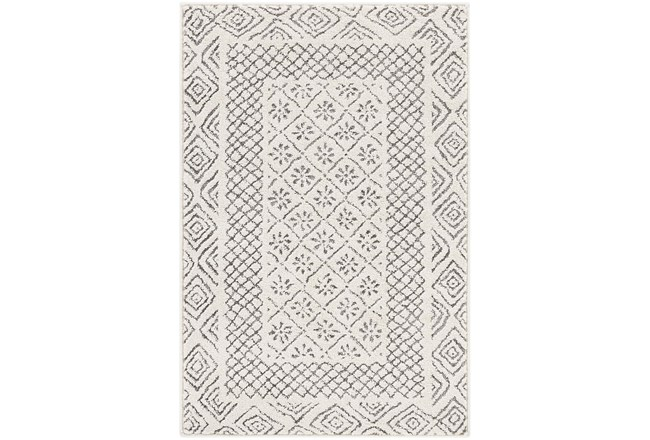 108X148 Rug-Global Low/High Grey And Beige - 360
