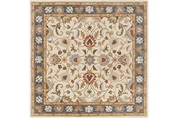 4'x4' Square Rug-Traditional Multicolor